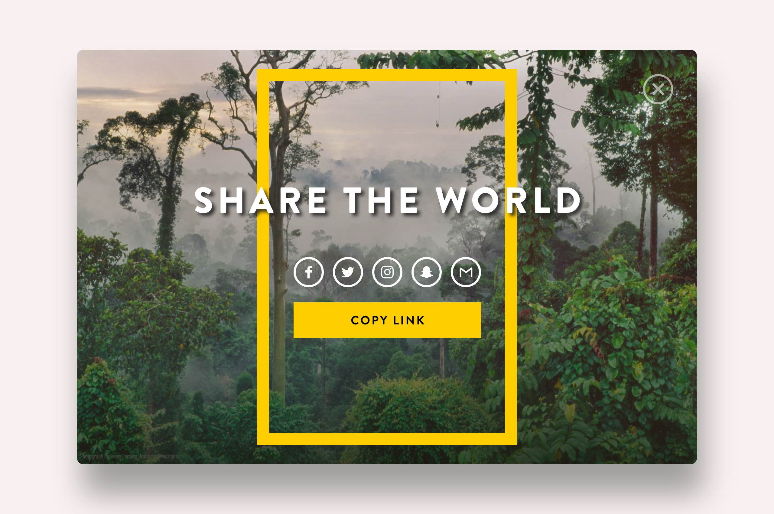 Daily UI 10 - Social Share, National Geographic
