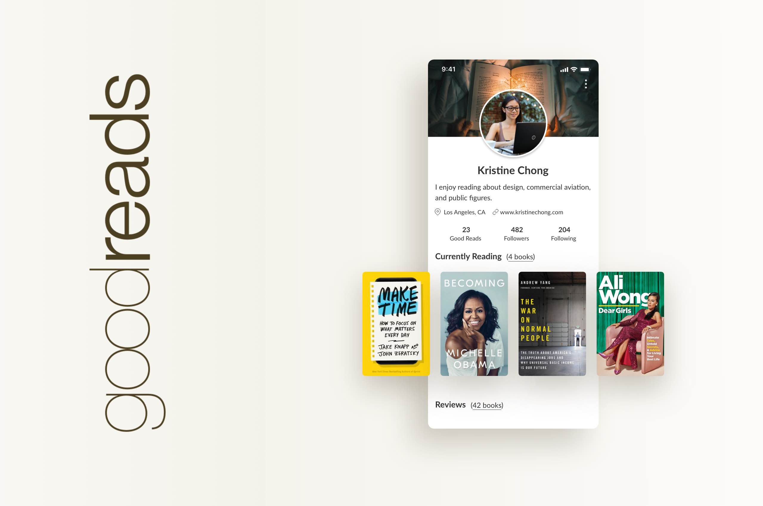 Daily UI 6 - User Profile, GoodReads App