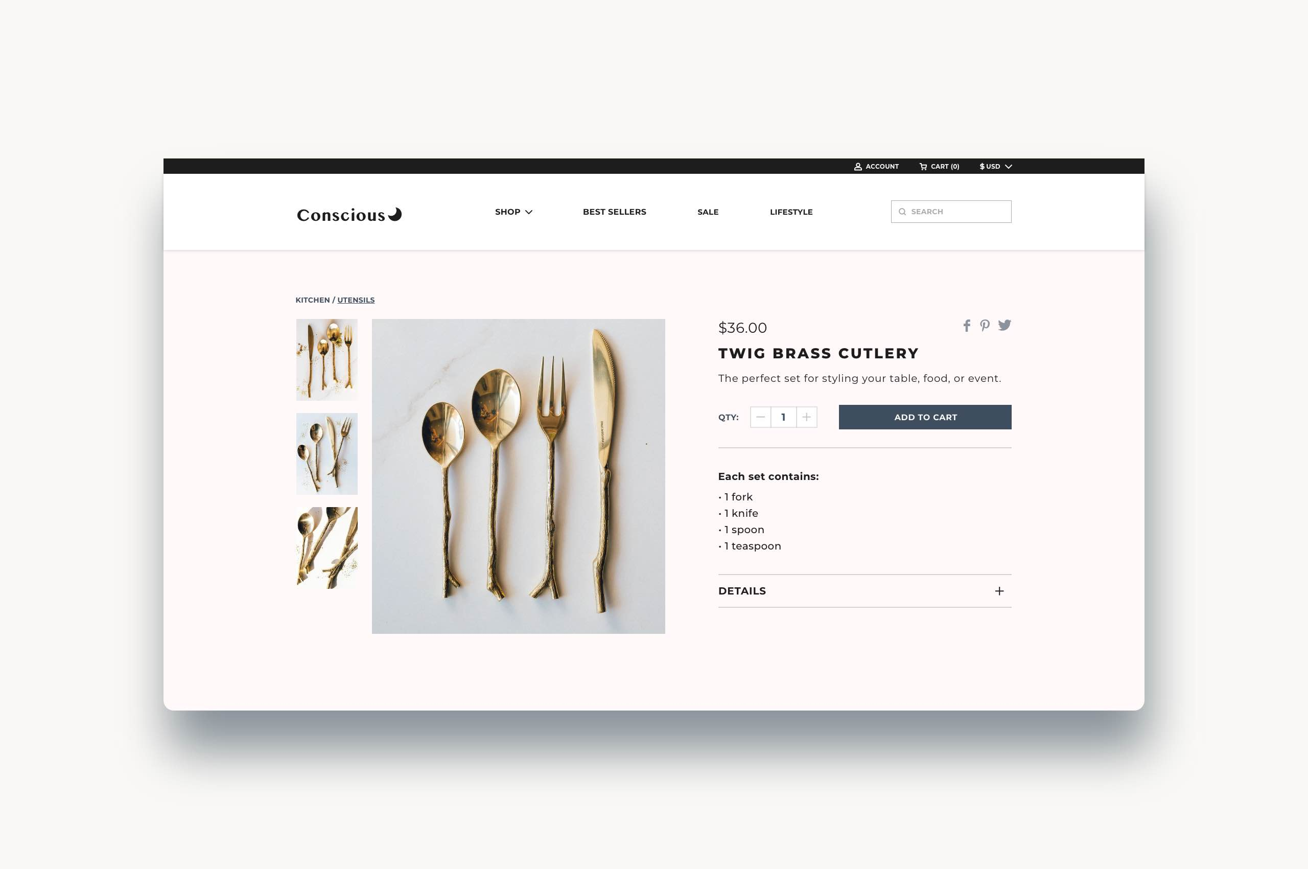 Daily UI 12 - Ecommerce, eco-conscious products