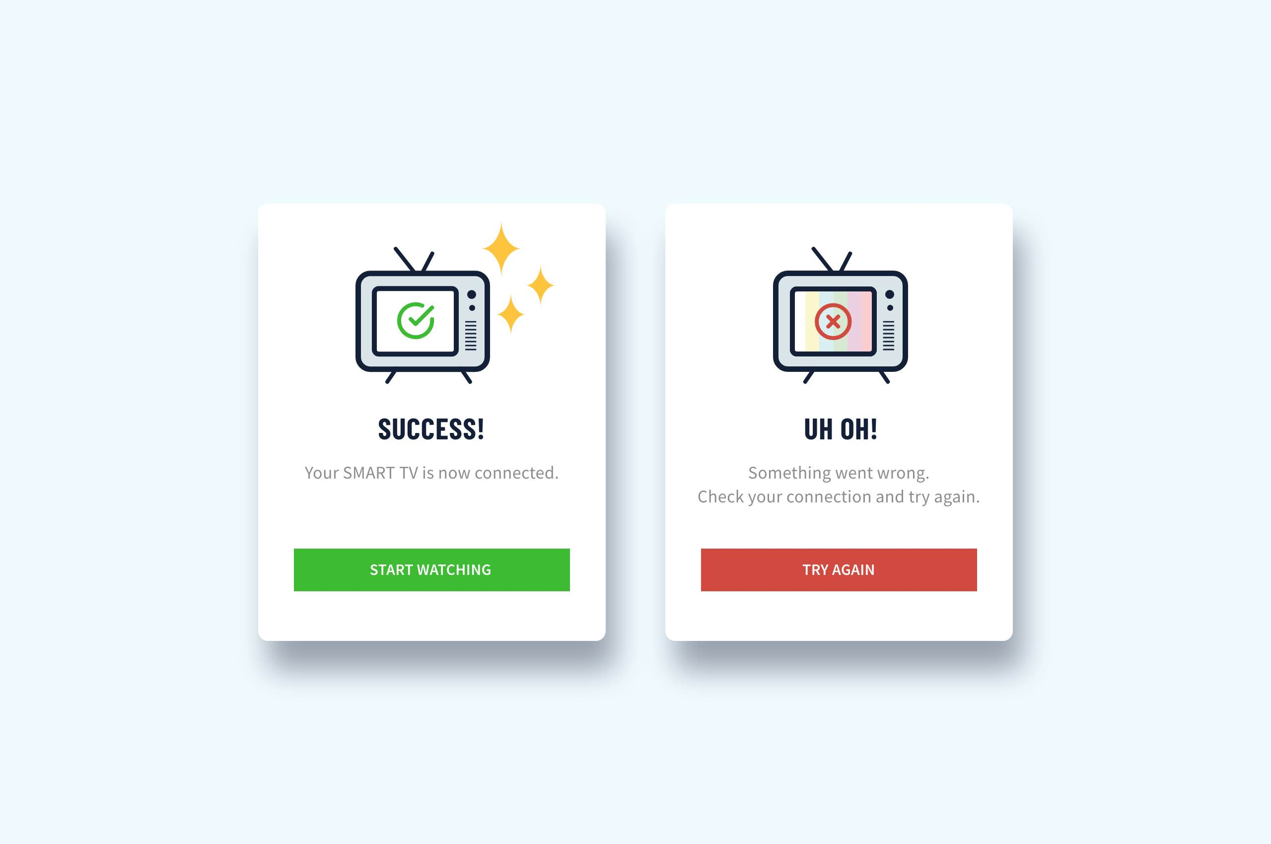 Daily UI 11 - Flash Message, Smart TV App