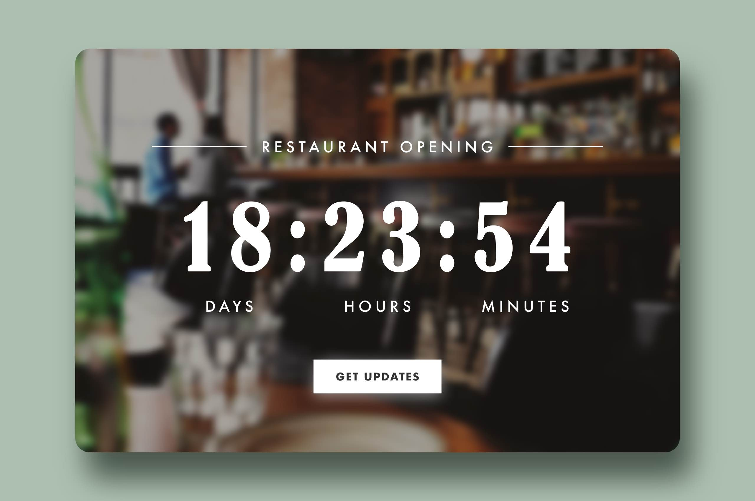 Daily UI 14 - Countdown Timer, Restaurant