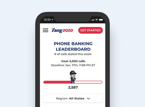 High-fidelity mobile mockup for Volunteer Scorecard leaderboard experience