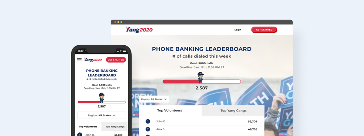 High-fidelity desktop and mobile mockups for the leaderboard experience