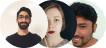 Three user avatars