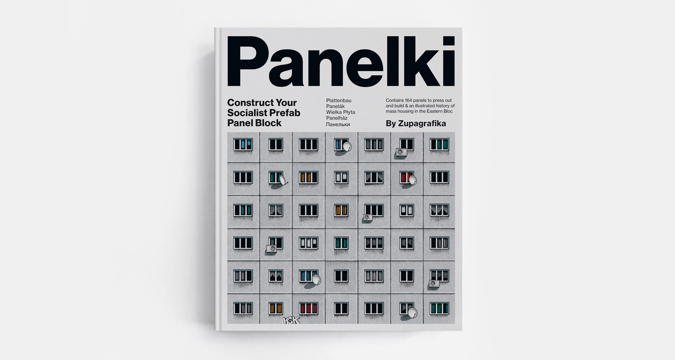 Panelki: Construct Your Socialis Prefab Panel Block. Contains 164 press-out prefab panels and an illustrated history on mass housing in the former Eastern Bloc