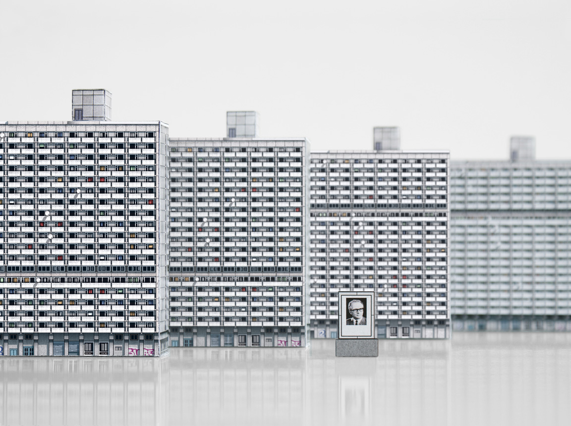'Scheiben' Housing Complex. Mini Halle (Neustadt) from Modern East by Zupagrafika