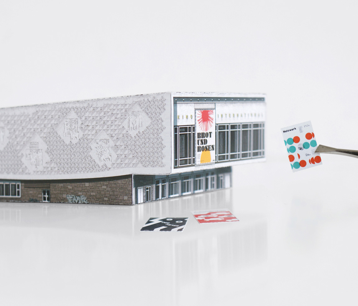 Paper model of Kino International in Berlin (Ost) by Zupagraika