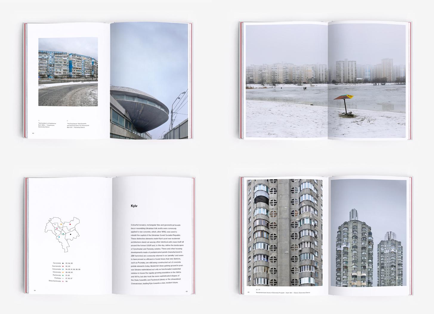 Soviet modernist constructions in Kyiv (Ukraine)