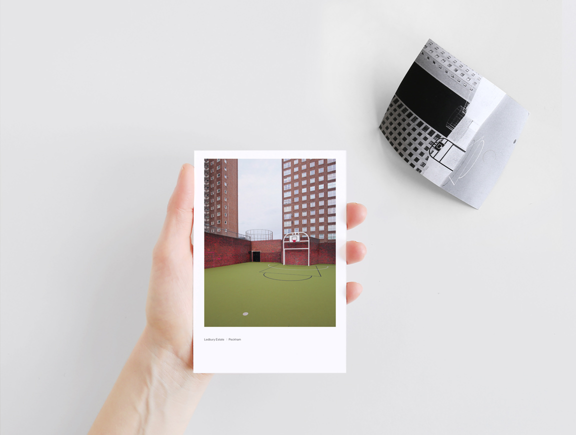 Modernist tower blocks of London. Hidden Cities: London, a Polaroid inspired photo box of snaphsots s to unveil