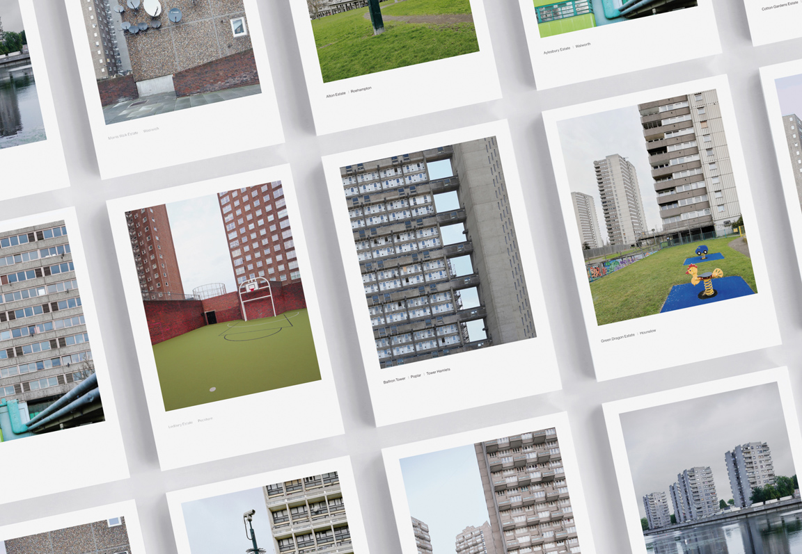 Brutal architecture of London. Photo box of snapshots to unveil by Zupagrafika