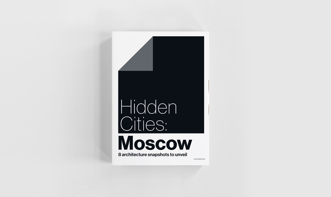 Hidden Cities: Moscow by Zupagrafika, peel the negative away and discover the hidden sleeping districs of Moscow