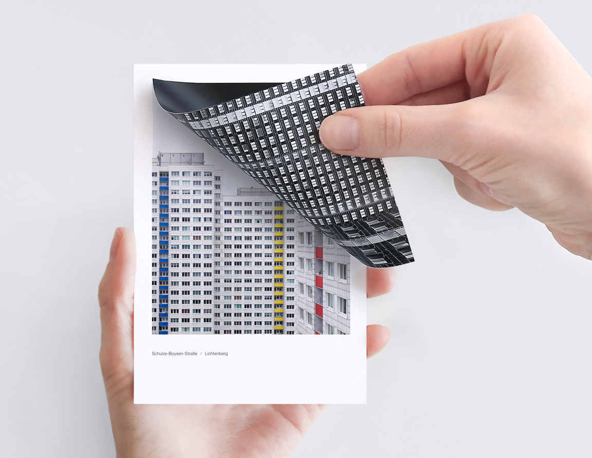 Modernist housing estates in Berlin. Hidden cities is a Polaroid inspired photo box