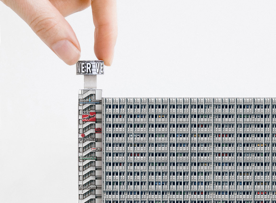 Paper cut-out model of Haus des Berliner Verlages in Berlin, included in Modern East by Zupagrafika.