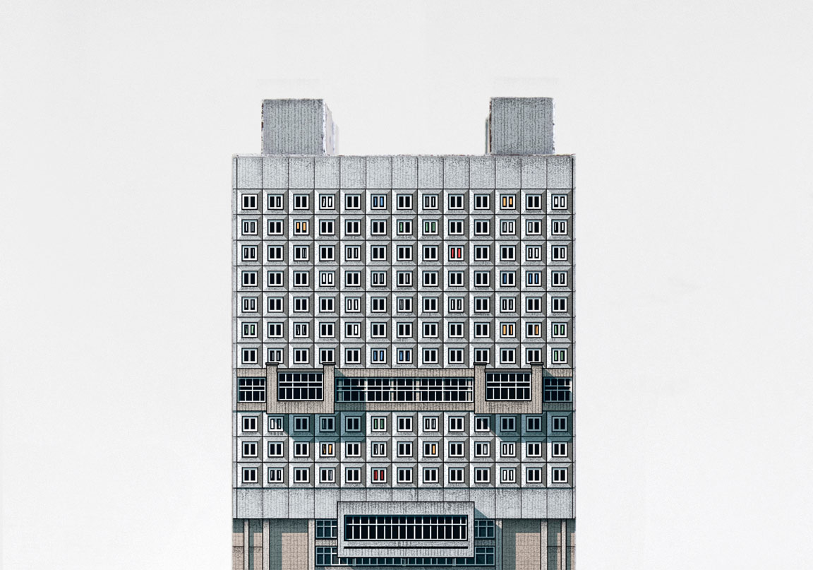 Brutal model of The House of Soviets, an unfinished brutalist building  located in the city of Kaliningrad (Russia)