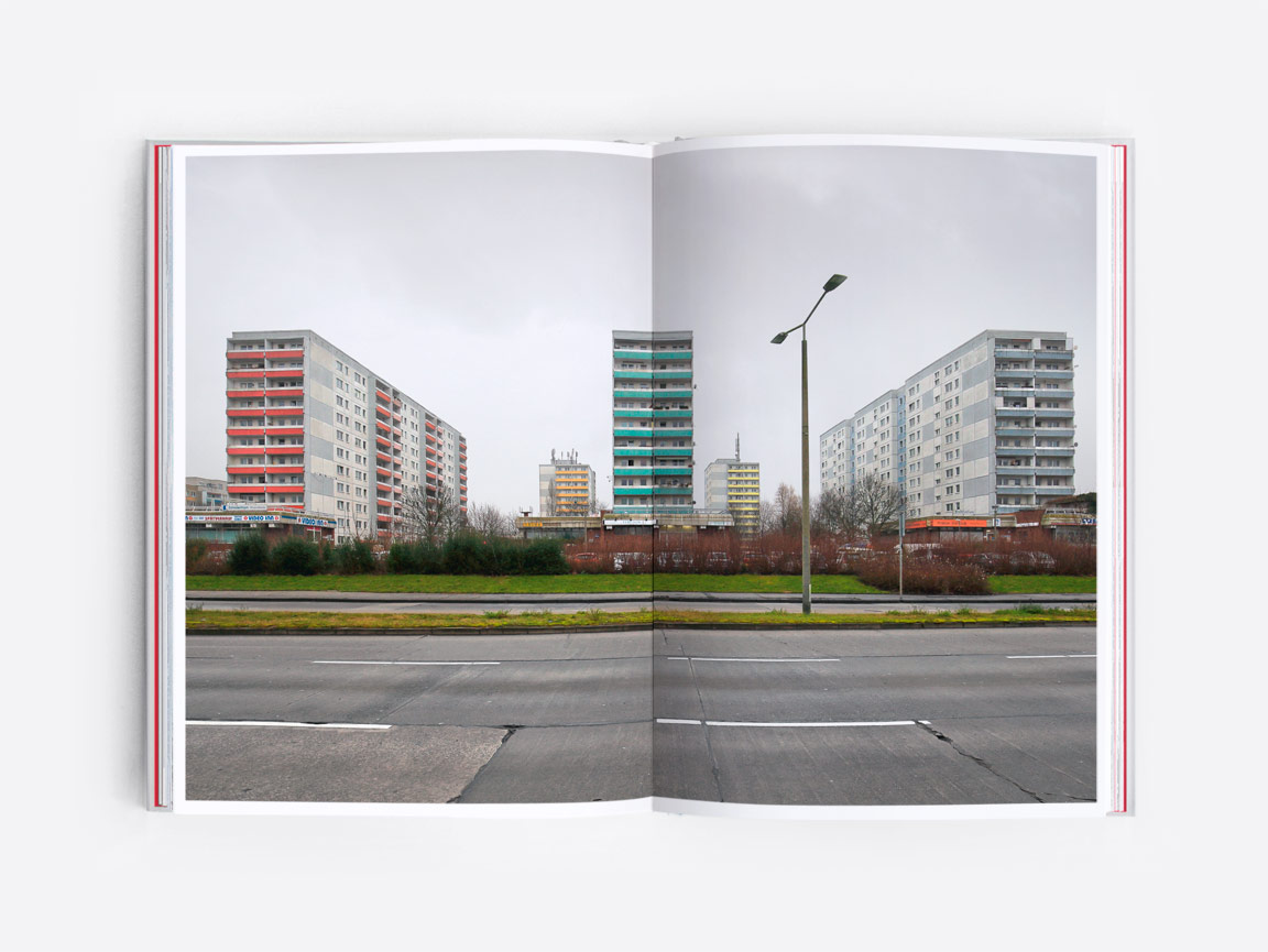 Post-war modernist housing estate in Marzahn, East Berlin