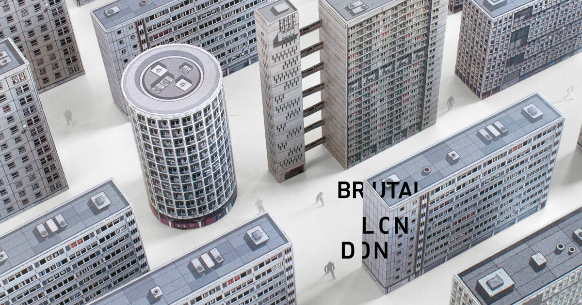 Brutal London Space House Build Your Own Brutalist London By Zupagrafika
