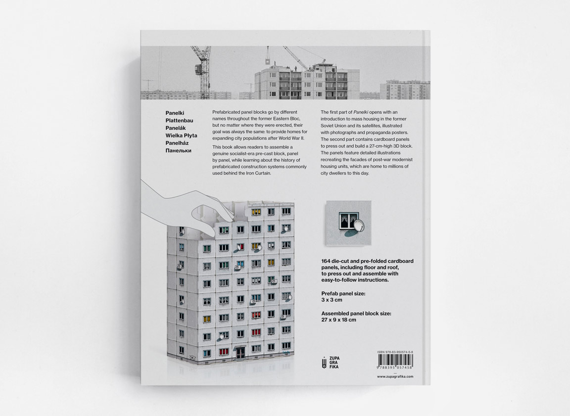 Book. Backcover. Panelki: Construct Your Socialist Prefab Panel Block