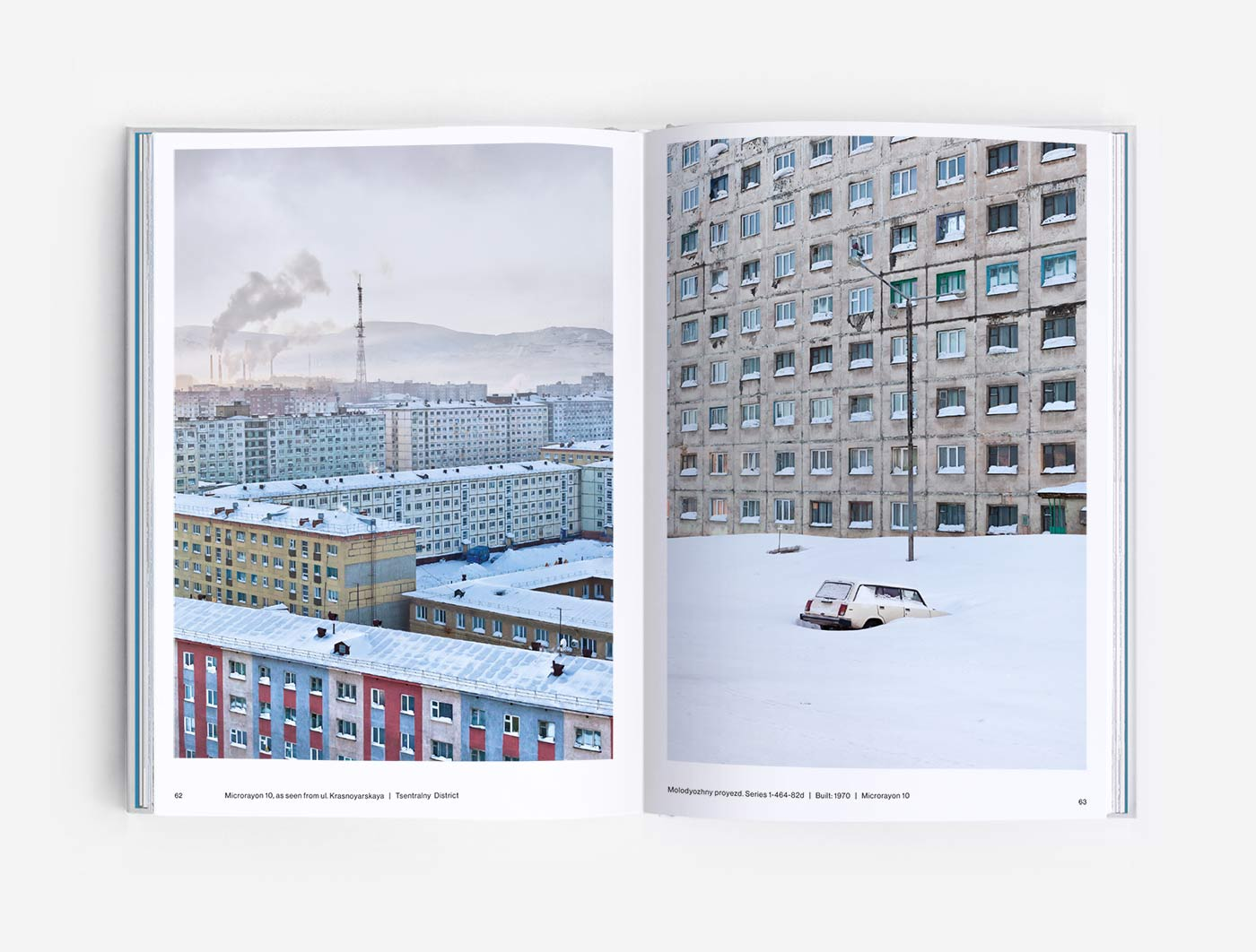 Skyline and Precast panel blocks in Norilsk, Siberia