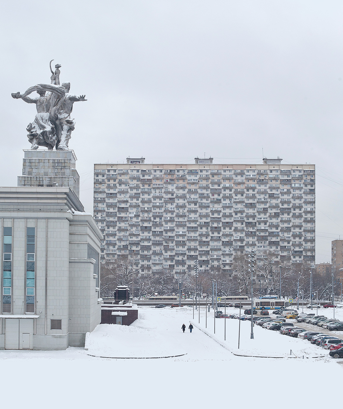 'The House on Chicken Legs'. Soviet modernist housing estate in Moscow