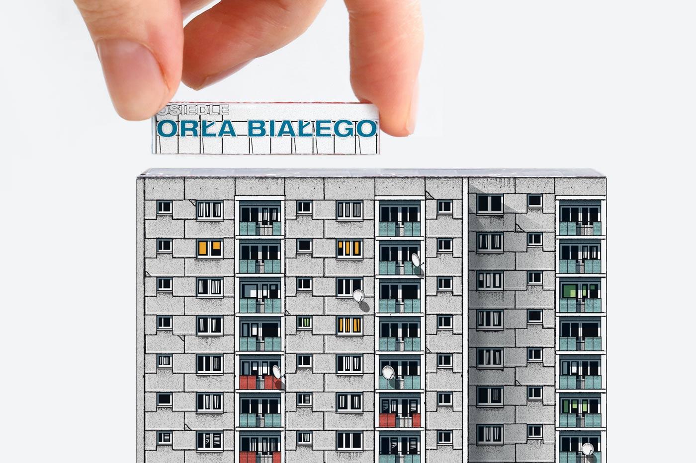 Paper model of Osiedle Orła Białego. Poznań