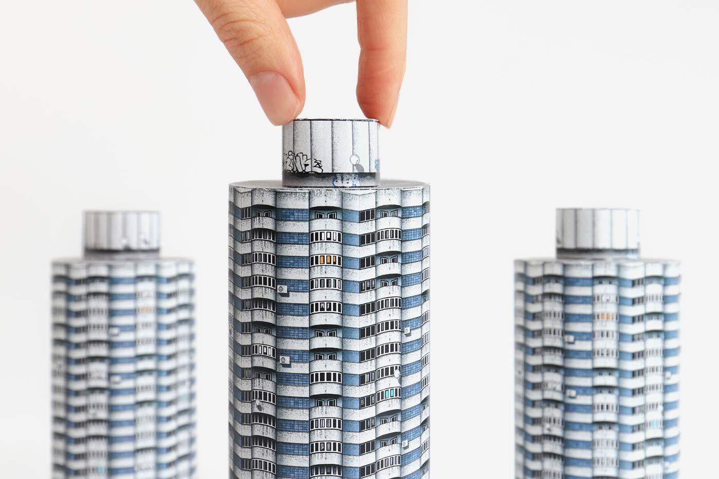 Paper model of 'Kukuruza' Housing Complex in Minsk, Belarus