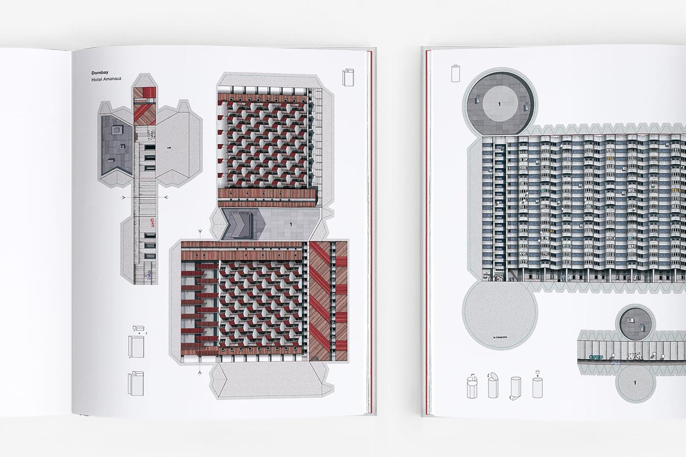 Brutal East Volume II contains nine paper models to press-out and build