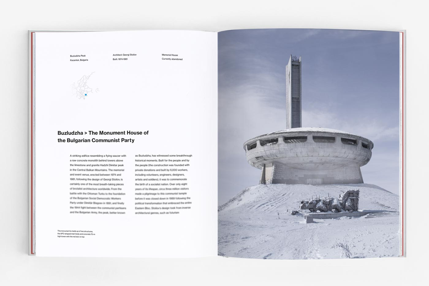 The Monument House of the Bulgarian Communist Party in Buzludzha, Bulgaria