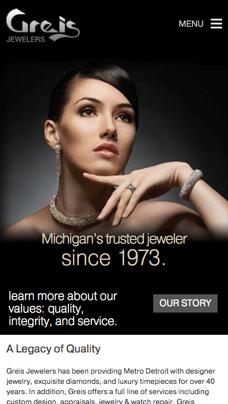 jewelry ecommerce site design