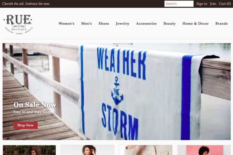 Small Business Ecommerce Site Design