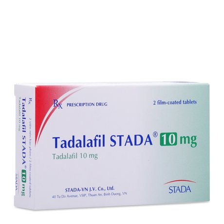 Tadalafil 10mg (1 vỉ x 2 viên/hộp) - Pharmacity