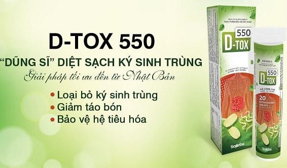 1.D-Tox 550 : Diệt gọn ký sinh trùng – tăng cường sức khỏe chung – giảm táo bón