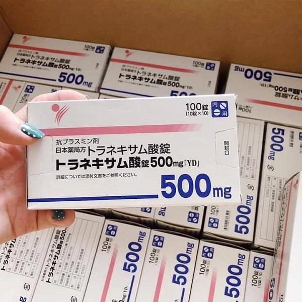 Viên uống trắng da hỗ trợ trị nám Transamin 500mg Nhật Bản | Lazada.vn