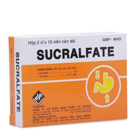 Thuốc điều loét dạ dày-tá tràng Sucralfate (2 vỉ x 10 viên/hộp) - Pharmacity