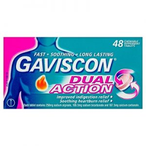 5.Thuốc chữa trào ngược dạ dày tốt nhất Gaviscon