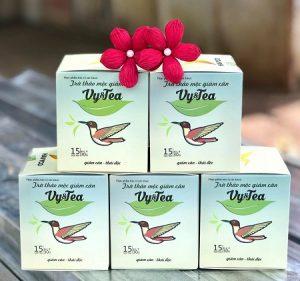 5.Trà giảm cân Vy tea – sản phẩm giảm cân giá rẻ cho phụ nữ sau sinh
