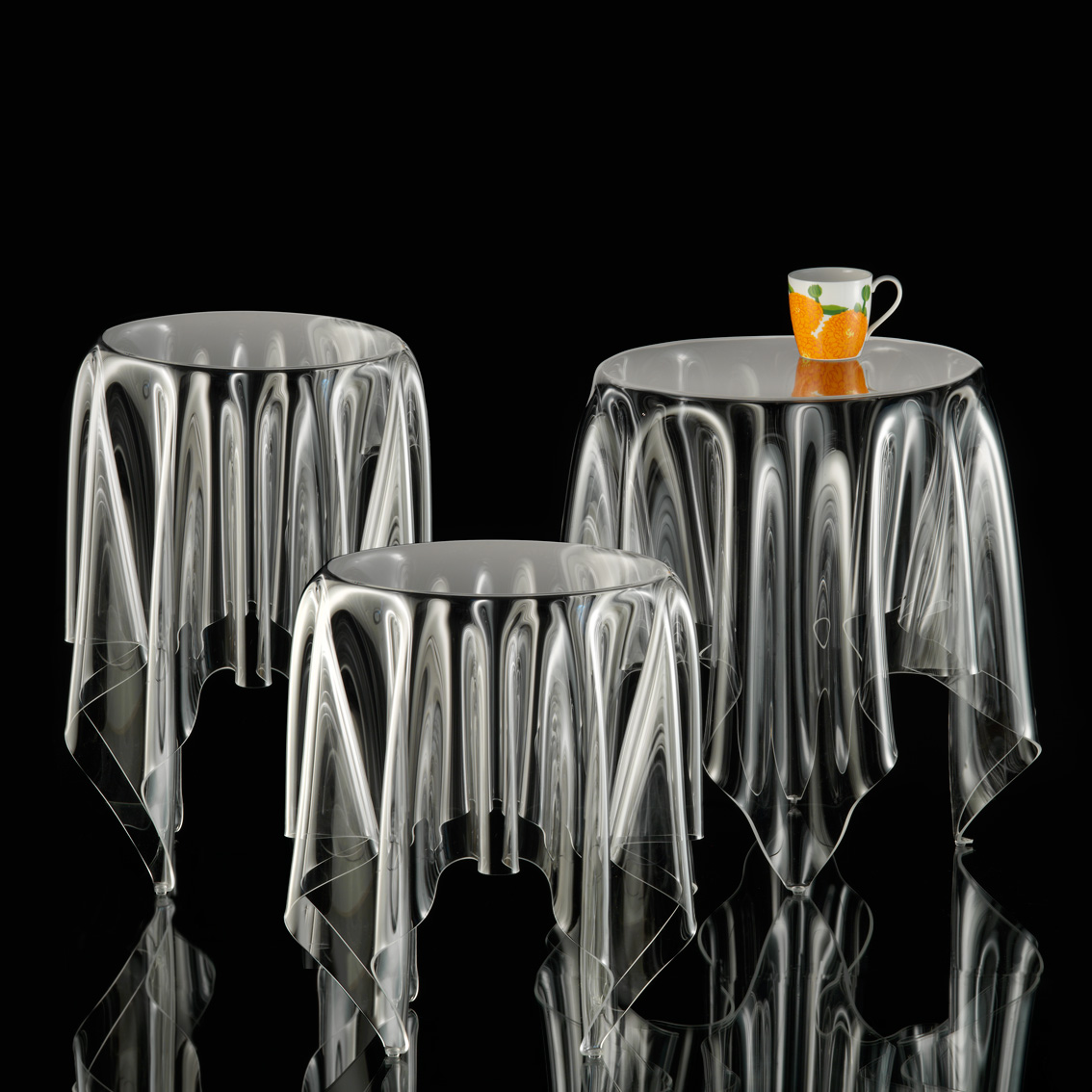 Tall Illusion ice side table