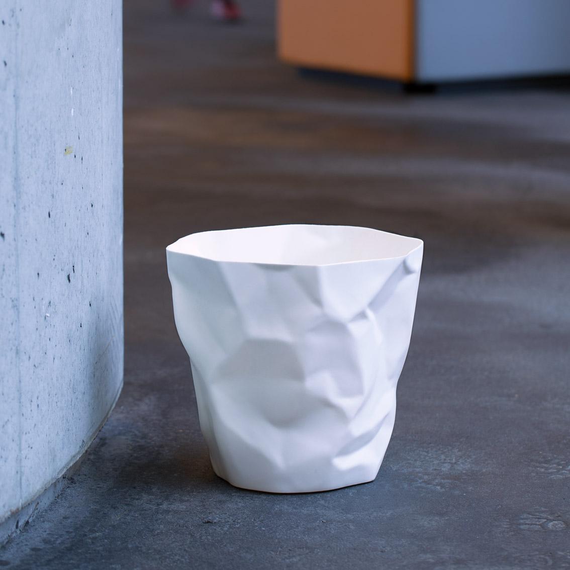 Bin Bin paper waste basket White