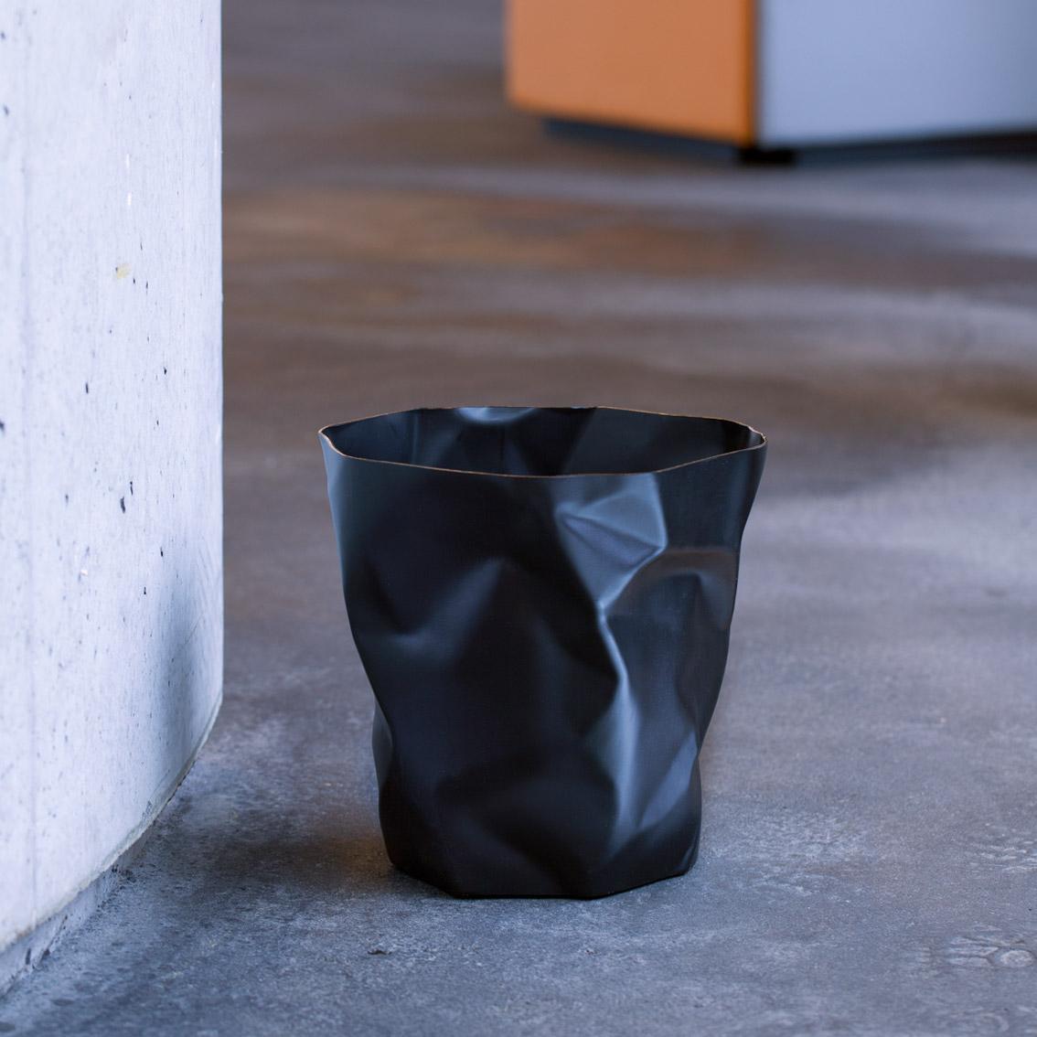 Bin Bin paper waste basket Black