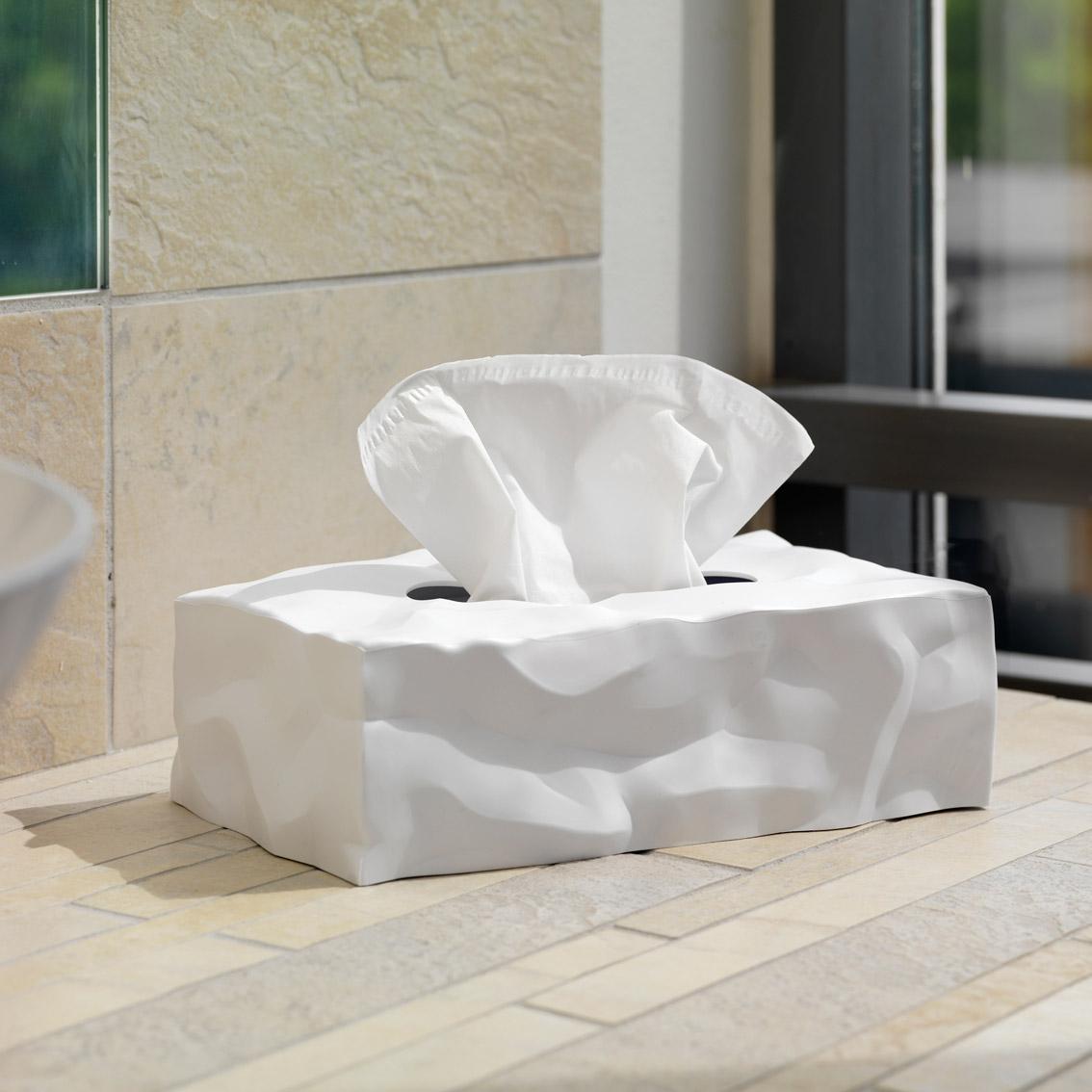 White Essey Tissue Box Long