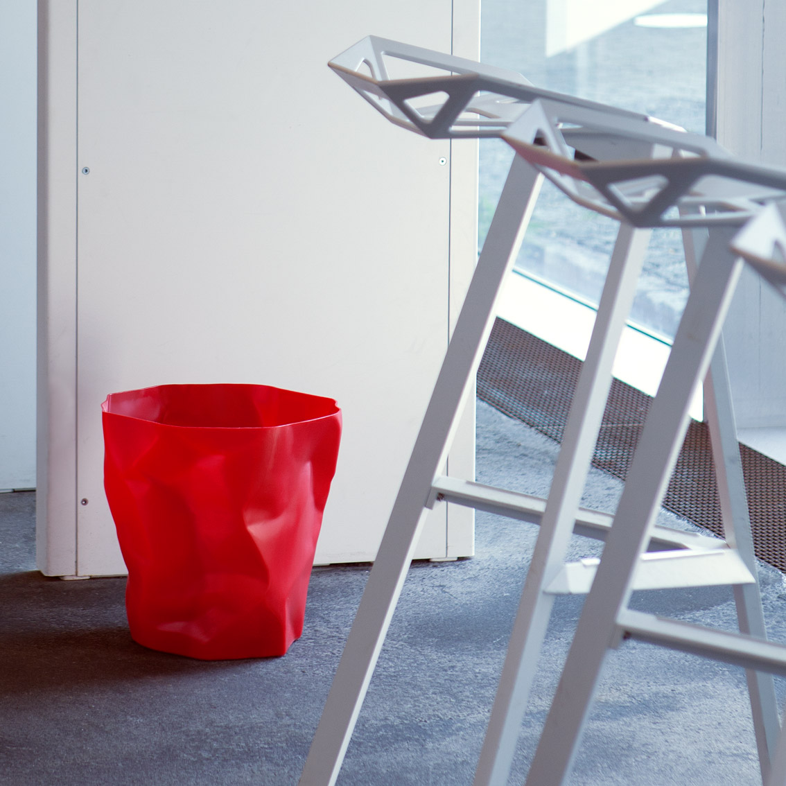Bin Bin paper waste basket Red