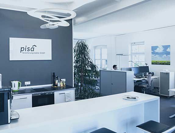 Das Büro der pisa Versicherungsmakler GmbH