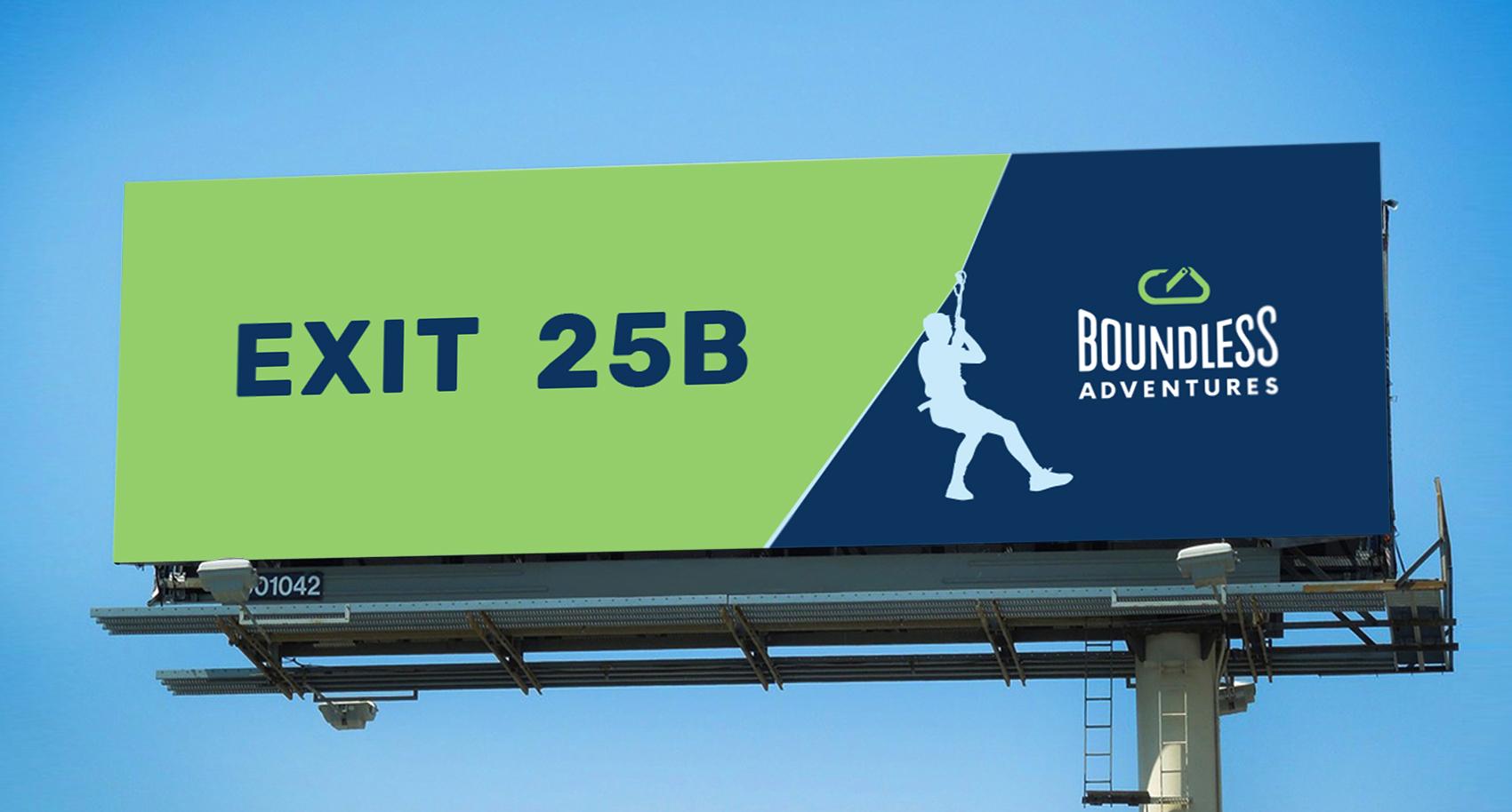 Billboard design for Boundless Adventures