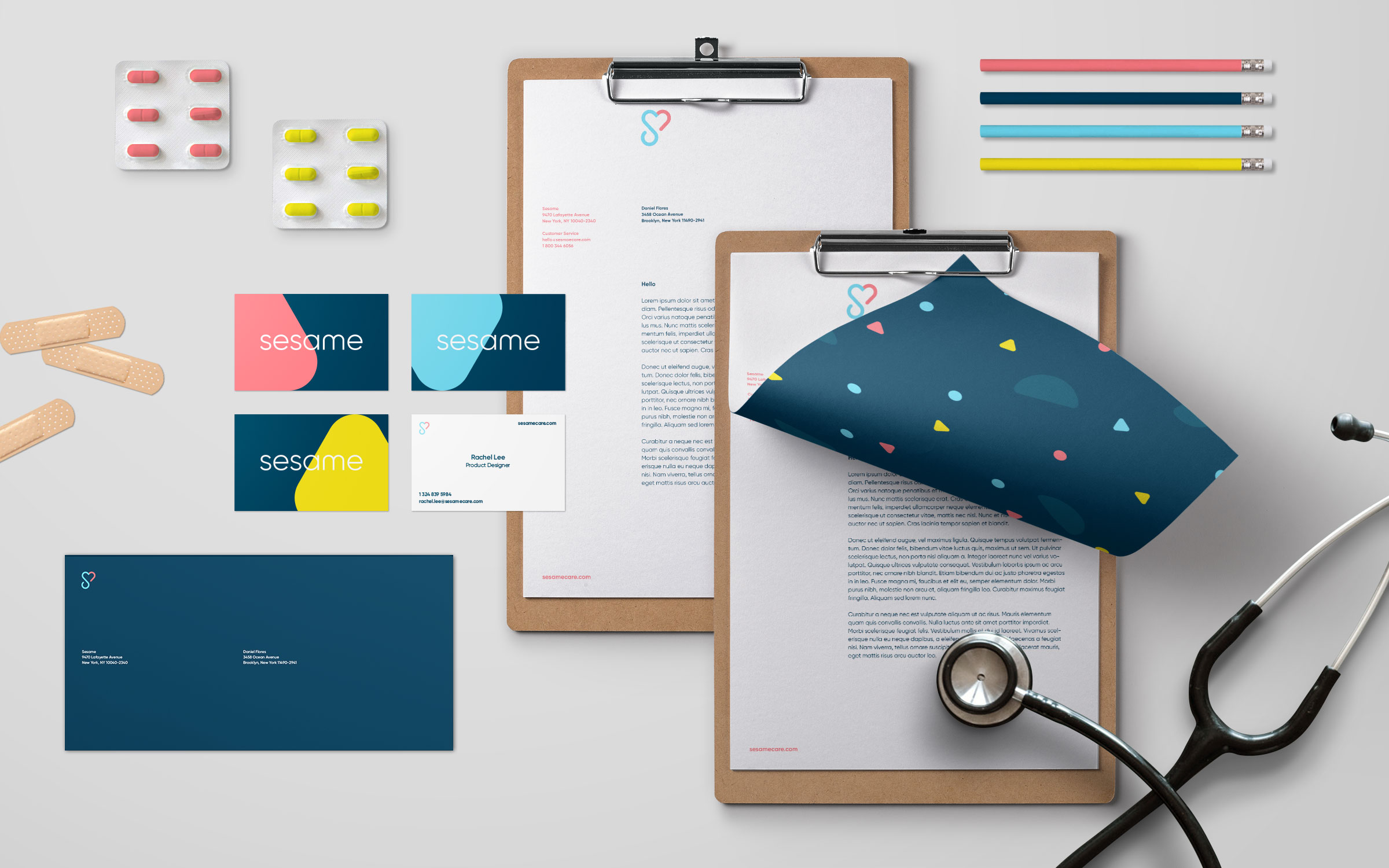 Branding work for Sesame, a Dumbo, New York based startup.  Collateral includes business cards and stationary