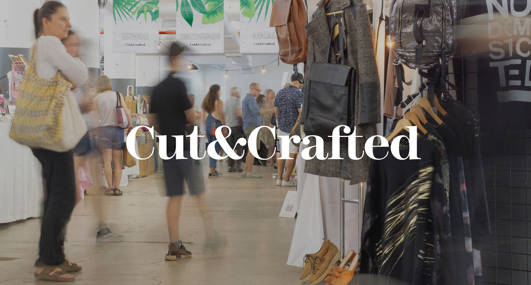 Cut & Crafted Branding with the Brooklyn Holiday Bazaar (Sping Edition) in the background