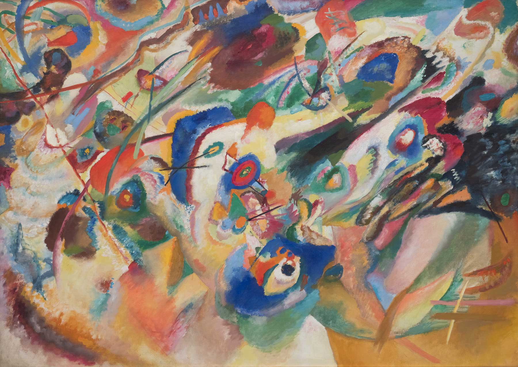 Sketch 2 for Composition VII - Wassily Kandinsky - Full Composition