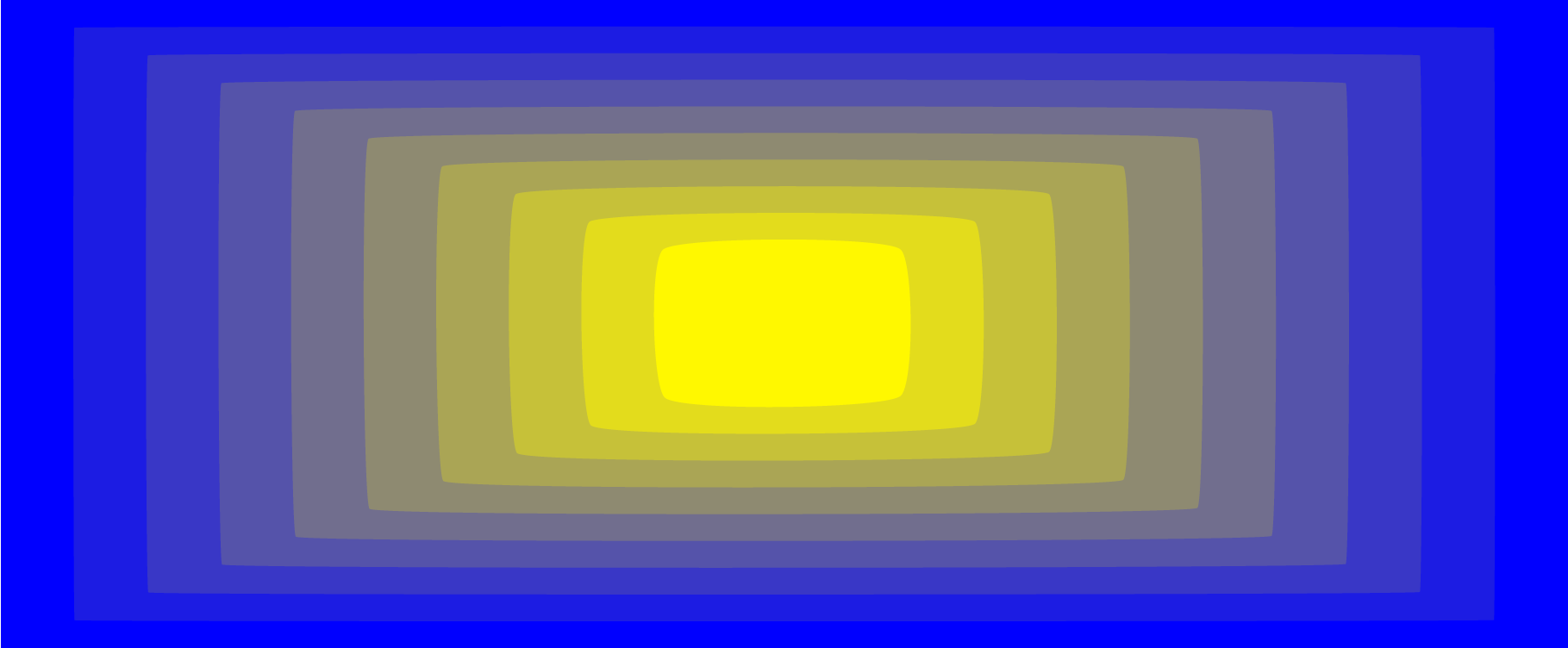 yellow coming at you on a blue screen
