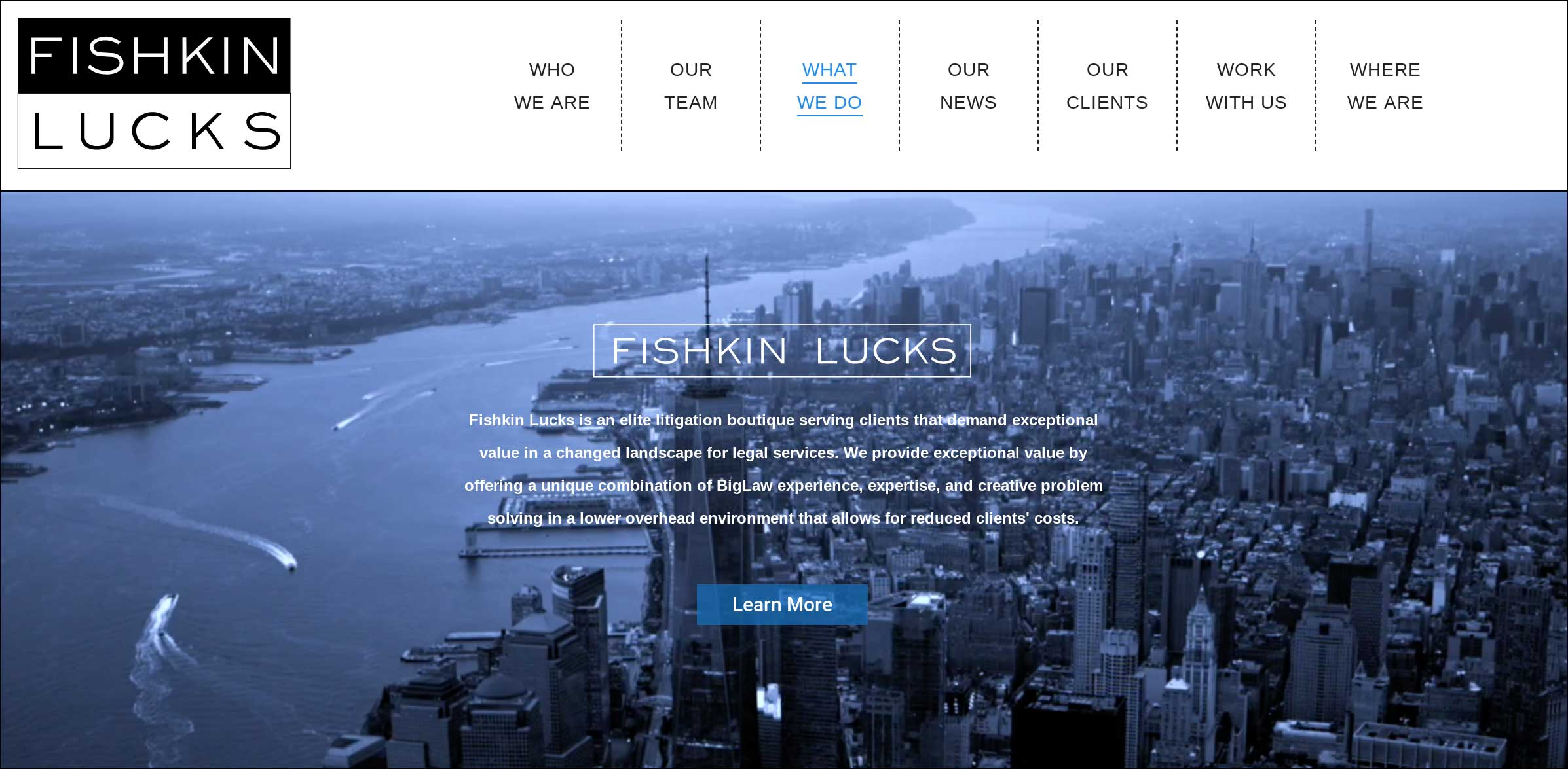 Fishkin Lucks - old website design