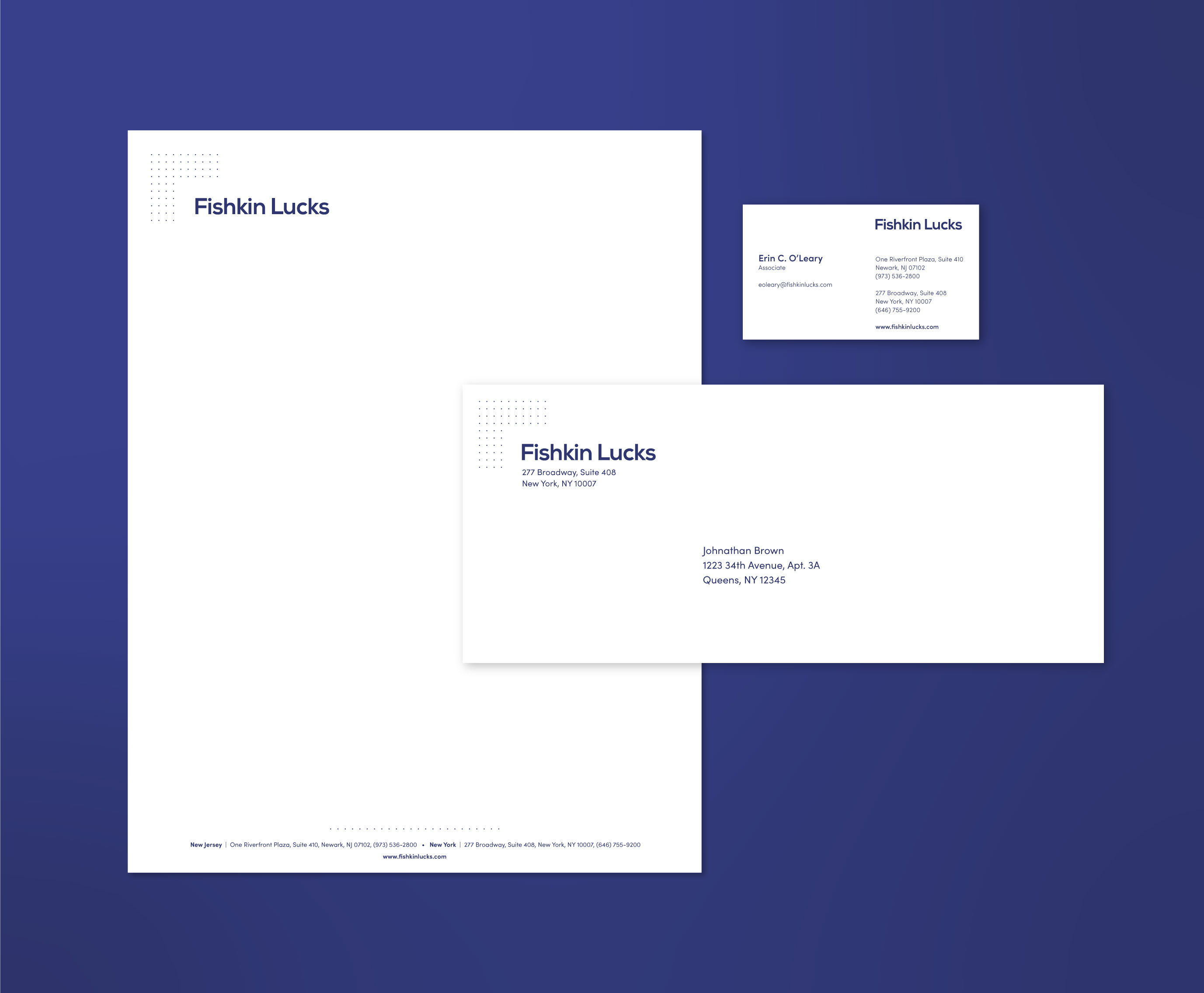 Fishkin Lucks - Letterhead Print Design
