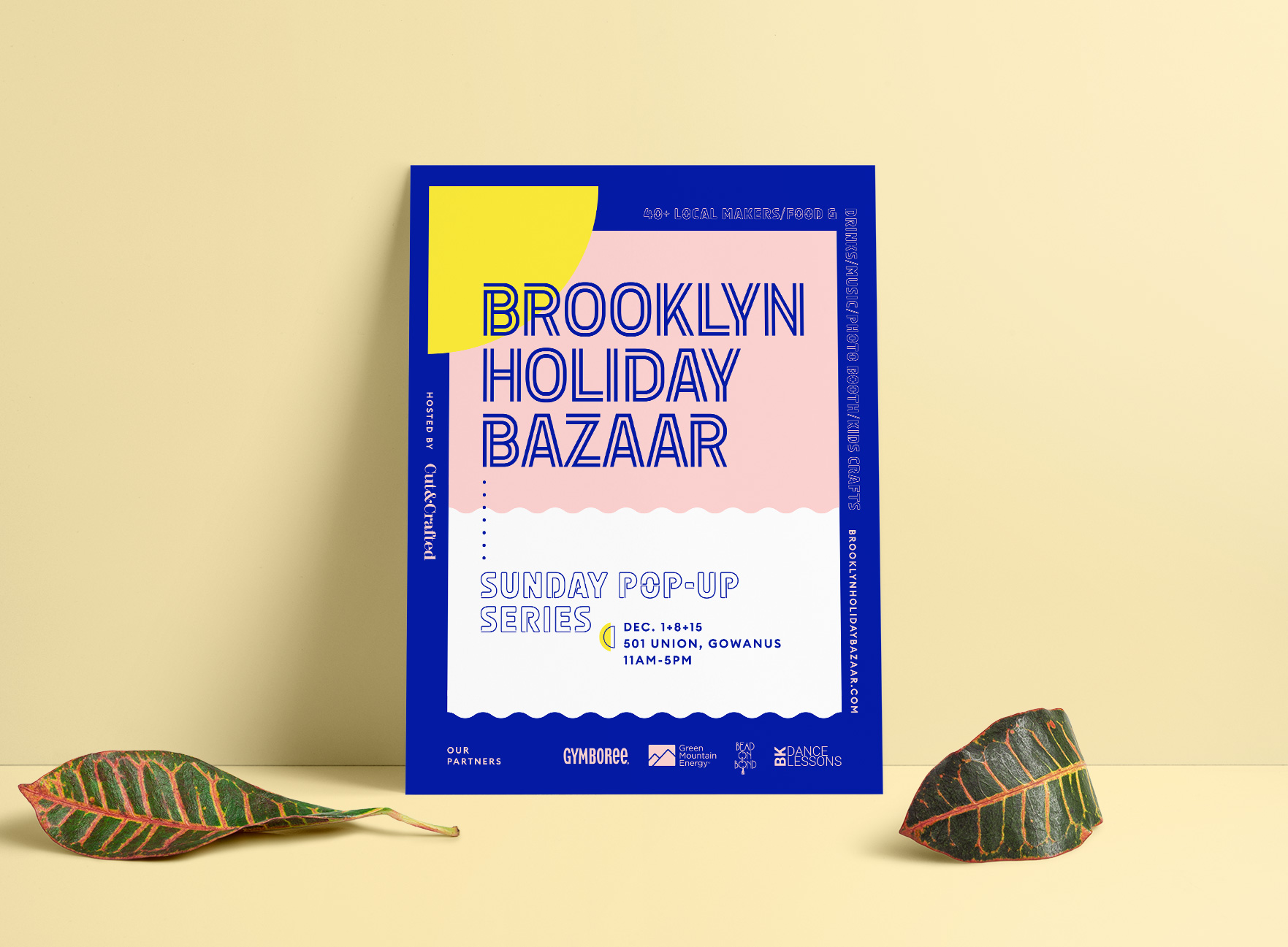 Event Collateral Design for Brooklyn Holiday Bazaar