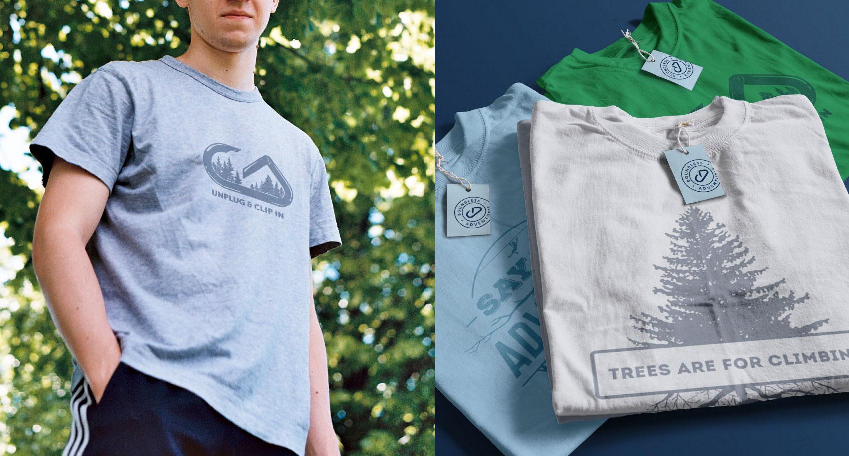 Merch (tshirt) designs for Boundless Adventures